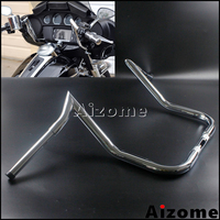 Chrome Motorcycle 1 1/4 Handlebar For Harley 14 Rise Monkey Bagger Bar Electra Glide FLHTC Batwing Fairing 37 Ape Hanger Bar