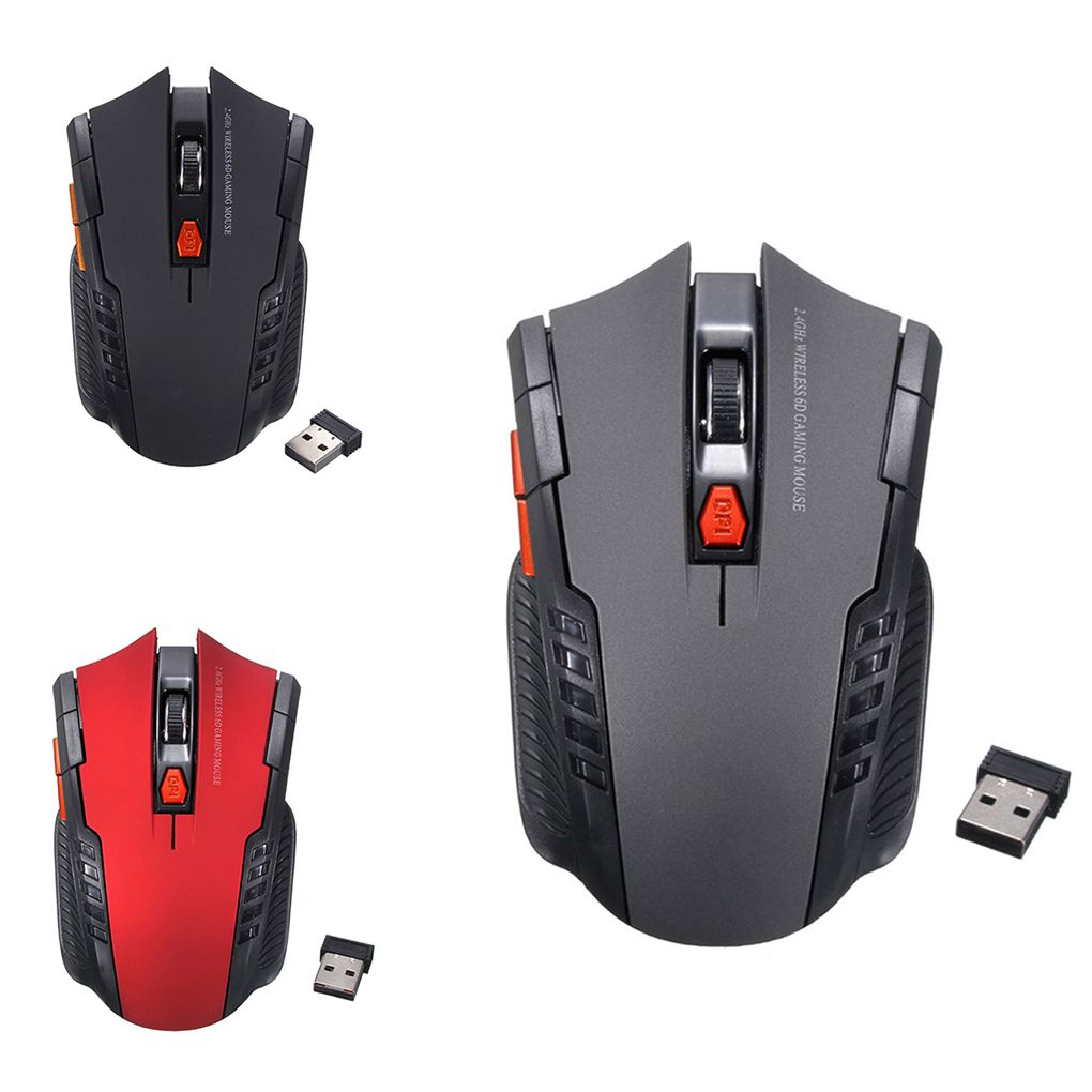 Mouse Gamer 2.4ghz Wireless Computer PC Laptop Profissional Game 1600dpi 2000 DPI USB Optical Mouses Gamer Symmetrical Design 6D