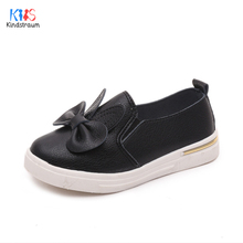 Kindstraum 2017 New Children Bow Leather Shoes Spring & Autumn Girls Solid Causal Shoes Rubber Bottom Soft Wear for Kids,RJ493