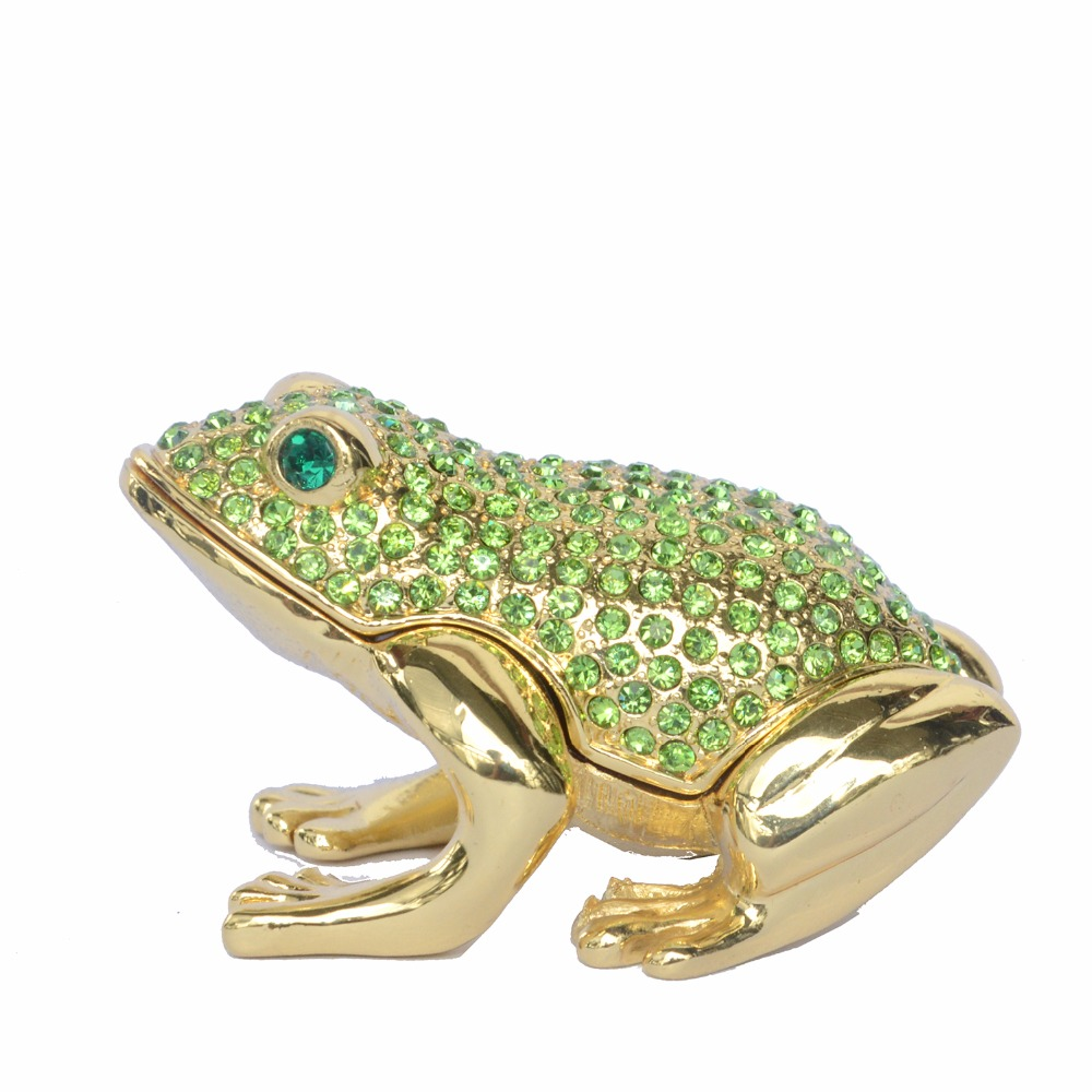 frog jewelry boxes Collectible metal trinket box metal Ornaments Home  decoration Gifts 6c2d8ee1c49f