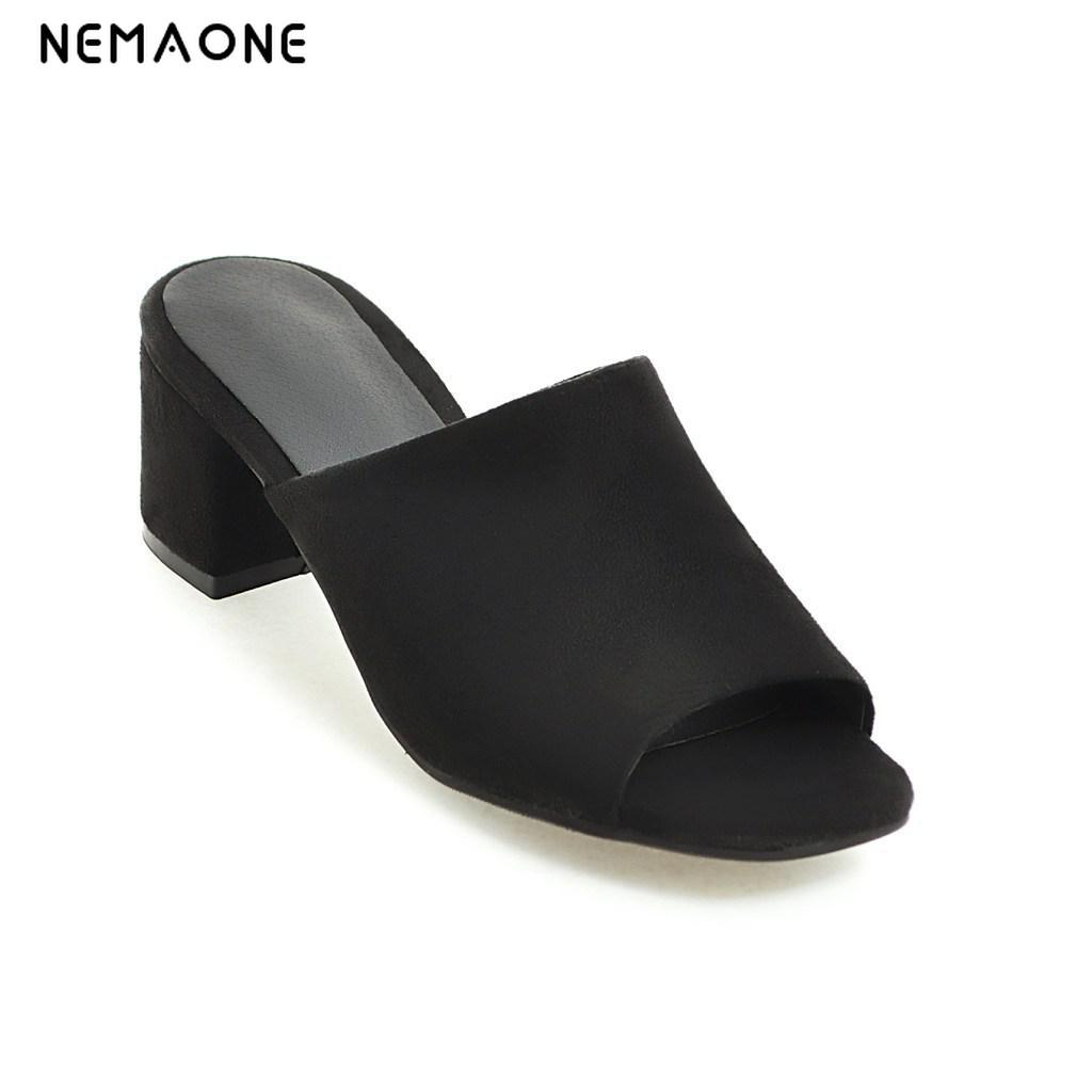 Image 2 - NEMAONE  New fashion women sandals thick heel sandals casual summer shoes woman high heels women slippers size 33 43-in High Heels from Shoes