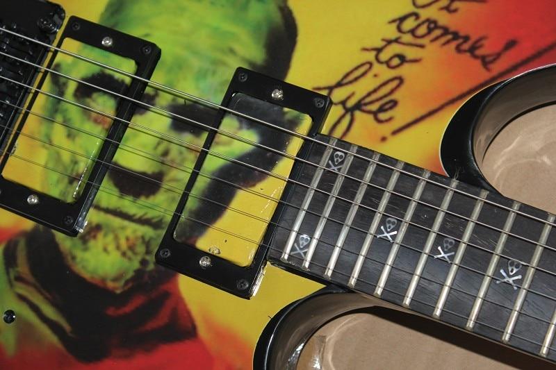 Free Shipping Factory custom Top Quality SALE Kirk Hammett Metallic E S P KH2 M-II Mummy Karloff Tlmummy Electric Guitar 914