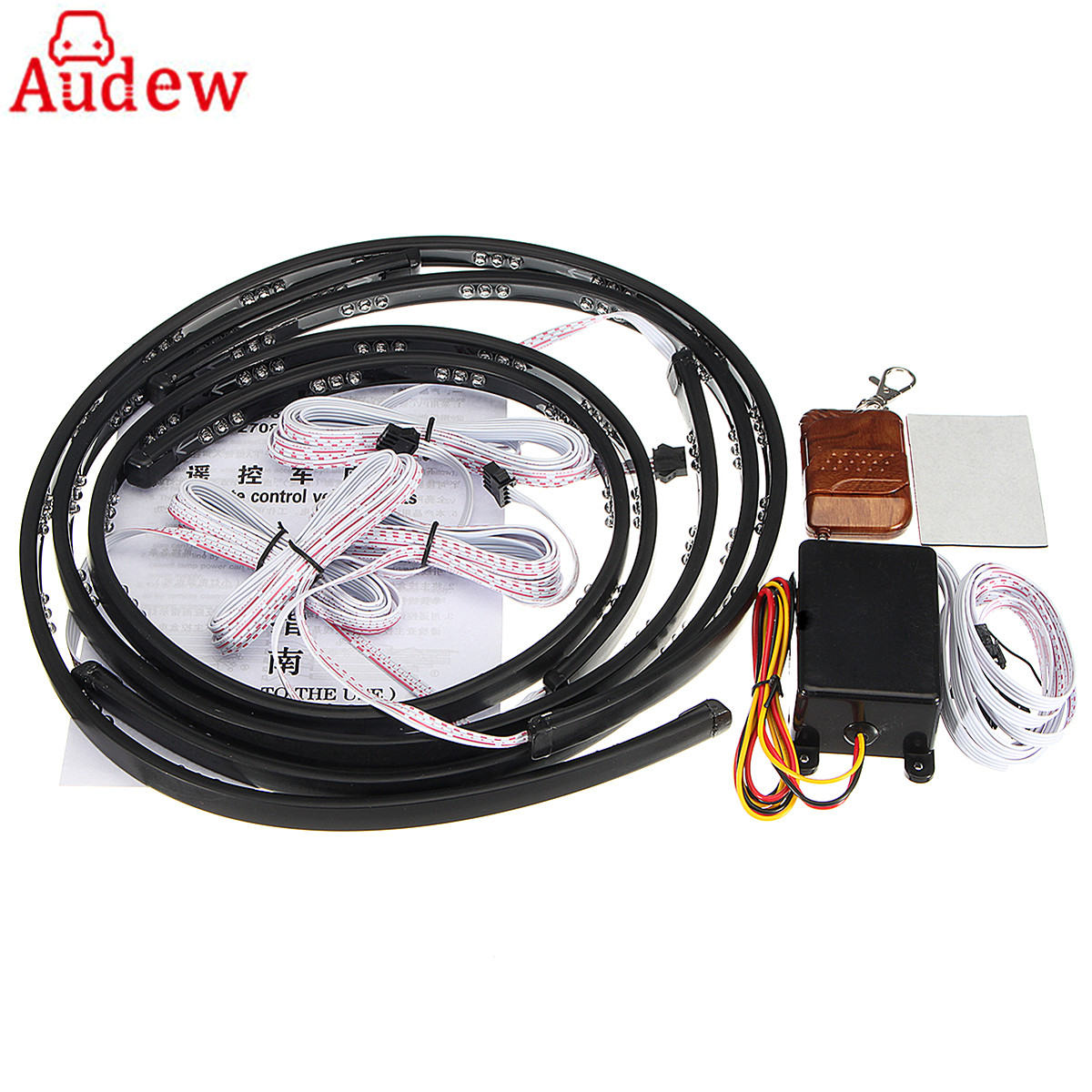 4Pcs 90CM <font><b>60CM</b></font> <font><b>LED</b></font> Car Strip Light decoratation Lamp With Wireless Remote Controll
