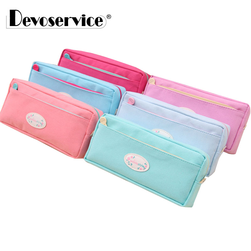 High Quality Canvas Pencil Cases Stationery Store Big Size School Pencil Bag Stationery For Students Large Capcity Pencil Case big capacity high quality canvas shark double layers pen pencil holder makeup case bag for school student with combination coded lock
