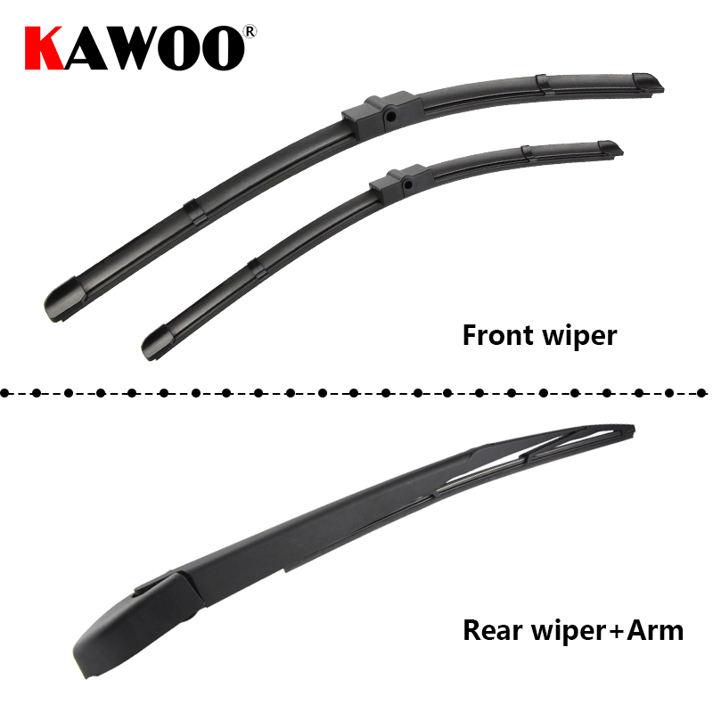 купить KAWOO Car Wiper Blade Windscreen Front Rear Wipers Blade For Ford Focus 2 Hatchback, 2004-2011 year Auto Car Accessories Styling по цене 353.59 рублей