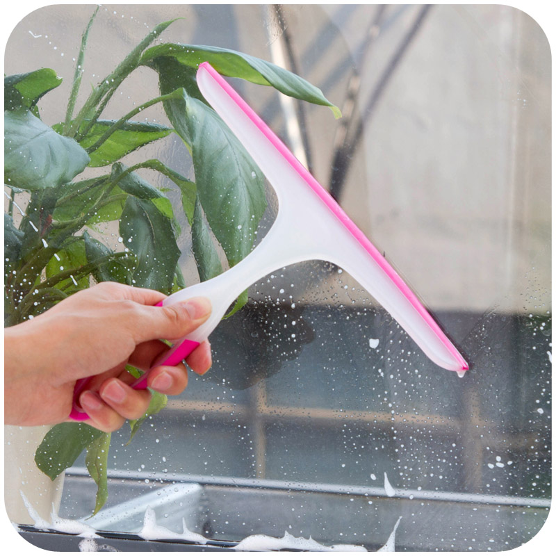 1pc Soft Scraping Clean The Window Glass Blowing Glass Cleaner Wiper Bathroom Floor Tiles Window Cleaning