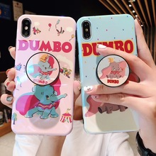 Lovely cartoon anime Couple Dumbo Elephant phone case For iphone Xs MAX XR X 6 6s 7 8 plus Blu-ray Silicone back cover Fundas