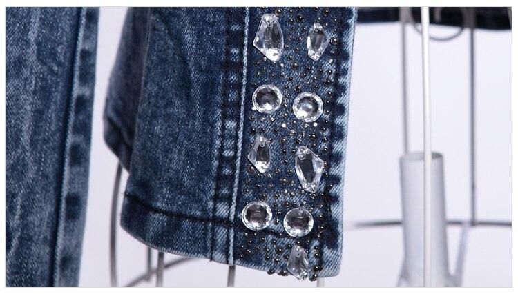 HTB1PQsFev1G3KVjSZFkq6yK4XXaf FMFSSOM 2019 New Arrival Spring Antumn Denim Jackets Vintage Diamonds Casual Coat Women's Denim Jacket For Outerwear Jeans