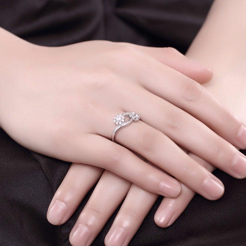 DODO double flowers open rings for women 100% 925 sterling silver ...