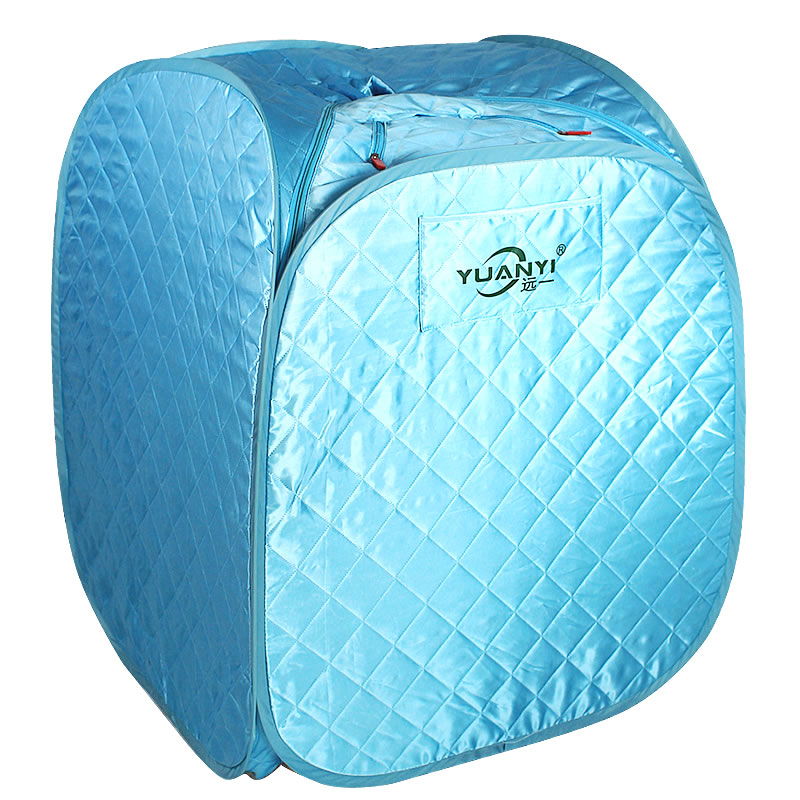 Portable Personal Folding Home Steam Sauna Therapeutic Steam Sauna Spa Head Cover Full Body Slim Detox Weight Loss Machine Blue