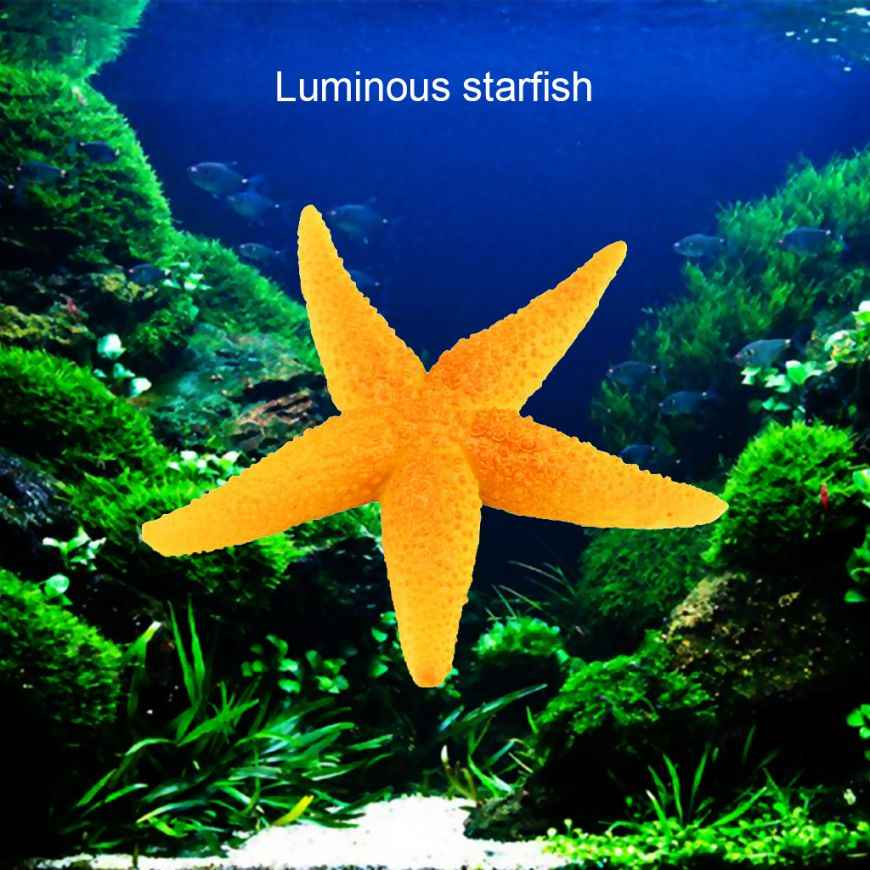 Fish Tank Decoration Landscape Sea Star Artificial Coral Starfish Ornament Star Jellyfish Aquarium Underwater Silicone
