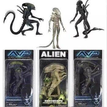 Aliens NECA vs Predator AVP Series-figura de acción de Alien, Xenomorph, translúcido,...