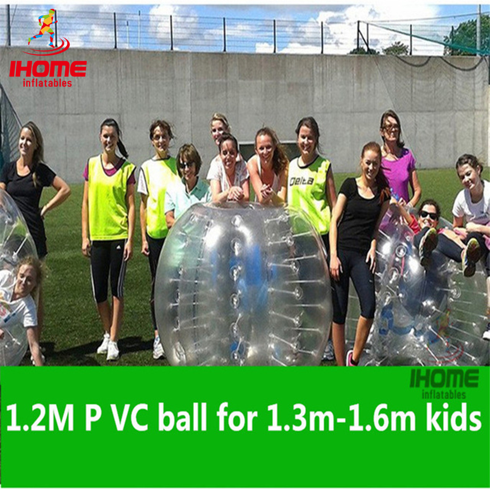 Balón de fútbol de fútbol inflable de PVC de 1.2M, parachoques Bal bubble ball bubble football zorb ball soccer bola de futebol