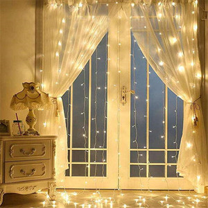 Image 4 - 3x3/3x1M LED Wedding fairy Light christmas garland LED Curtain string Light outdoor new year Birthday Party Garden Decoration