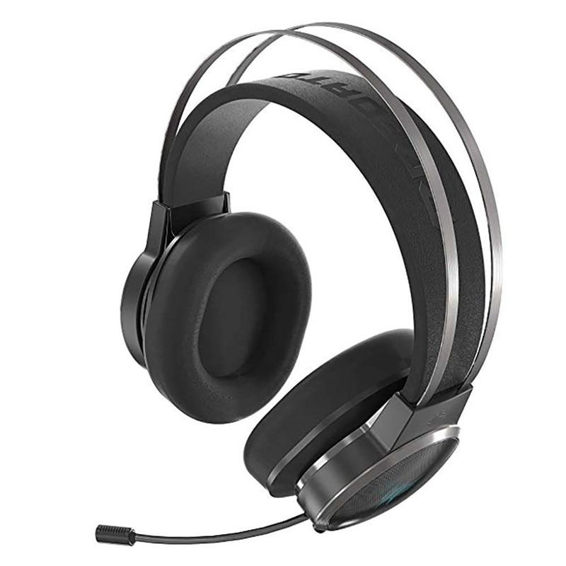 Casque de jeu de haute qualité hatostéped virtuel 7.1 son Surround écouteur 3D technologie de paysage sonore 3D en-tête de jeu - 3