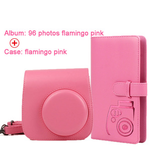 Image 4 - Protective Case Waterproof PU Leather Bag with Shoulder Strap+96 Pockets Photo Album for Fuji Fujifilm Instax Mini 9/8/7s Camera