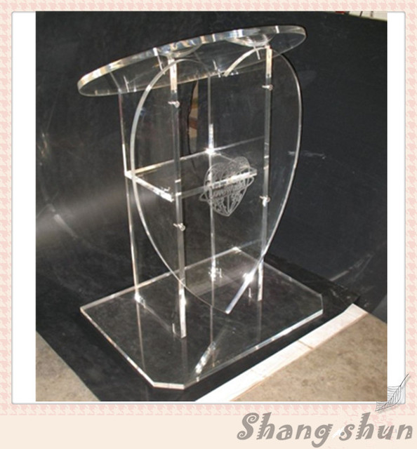 Modern Clear Acrylic Church Lectern Acrylic Heart Pulpit Heart Shape Acrylic Pulpit  Acrylic Podium