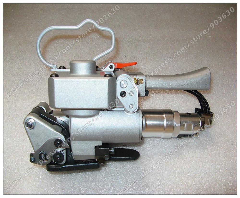 """Geriausios kokybės rankinis pneumatinis kombinuotojo plastikinio suvirinimo aparatas """"XQD-19"""", suvirintas pakavimo įrankis, skirtas PET juostai 13–19 mm"""