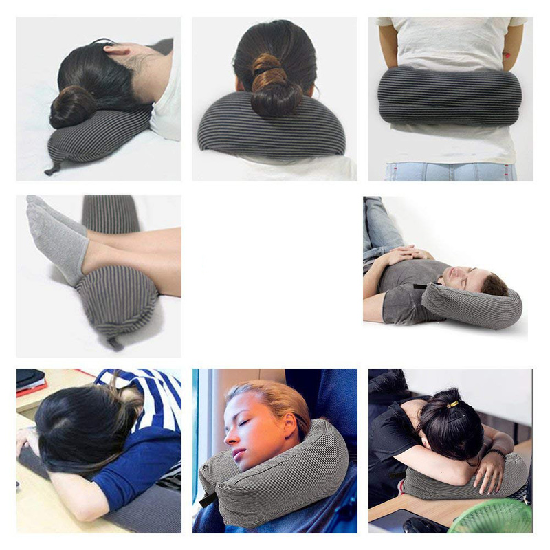 EPS Particles Cotton Pillow Side Sleeper Pillows Neck Back Pillow Hold Neck Spine Protection Cotton Pillow Health Care in Decorative Pillows from Home Garden