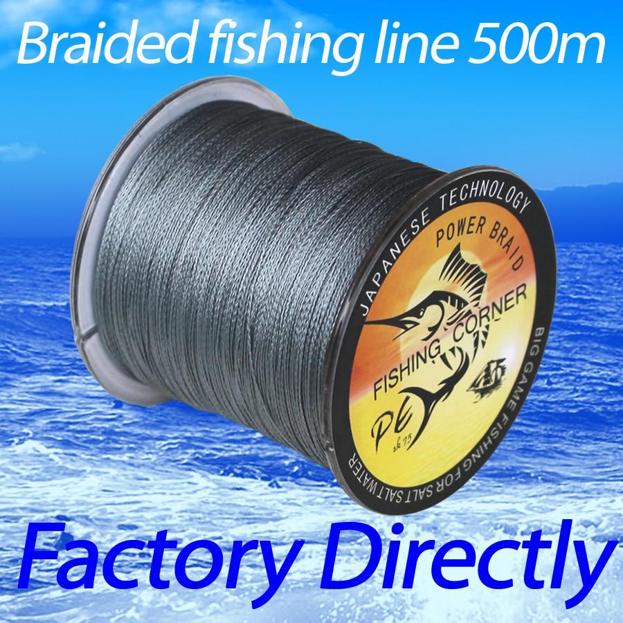 Balıkçılık köşe marka süper güçlü japon örgülü olta 500m Multifilament PE malzeme örgülü hattı 10-100LB