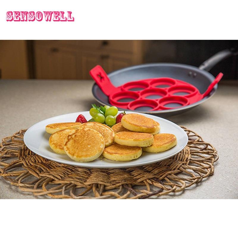5 Styles Pancake Pan Flip Perfect Breakfast Maker Egg Omelette Flipjack Tools