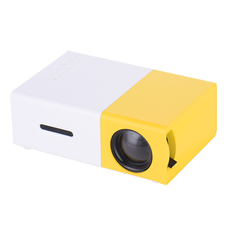 ФОТО YG300 LED Portable Projector 400LM 3.5mm Audio 320x240 Pixels HDMI Mini Projector Home Media Player Support PowerBank Powered