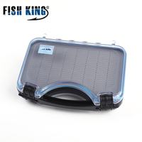 FISH KING Fly Fishing Lure Box High Capacity Bait Container Hook Set Storage Case Bait Tools Waterproof Fishing Accessories