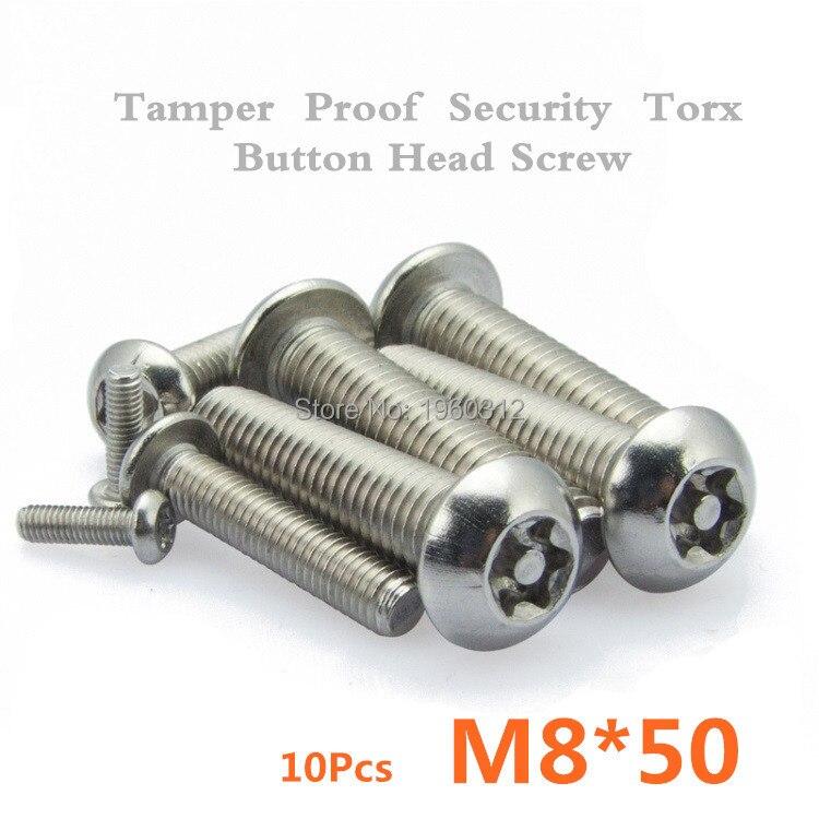 Lot de 10 vis /à t/ête bomb/ée ISO 7380