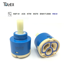 TULEX Faucet Valve Core 40mm Standard Ceramic Cartridge without Distributor with Filter Faucet Cartridge Replacement Part