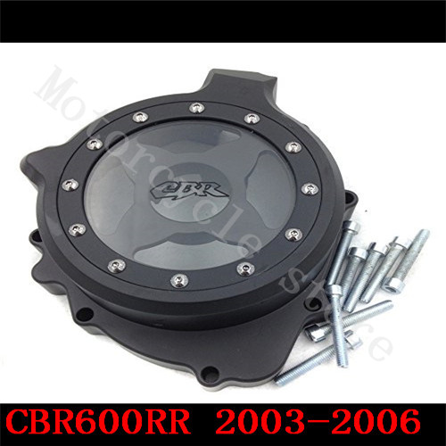 Fit for Honda CBR600RR CBR600 F5 2003 2004 2005 2006  Motorcycle Engine Stator cover see through black left side car rear trunk security shield shade cargo cover for honda fit jazz 2004 2005 2006 2007 black beige