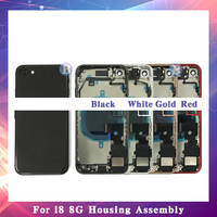 High Quality For iphone 8 8G or 8 Plus X with Flex Cable Back Housing Full Assembly Battery Cover Door Rear Middle Frame Chassis