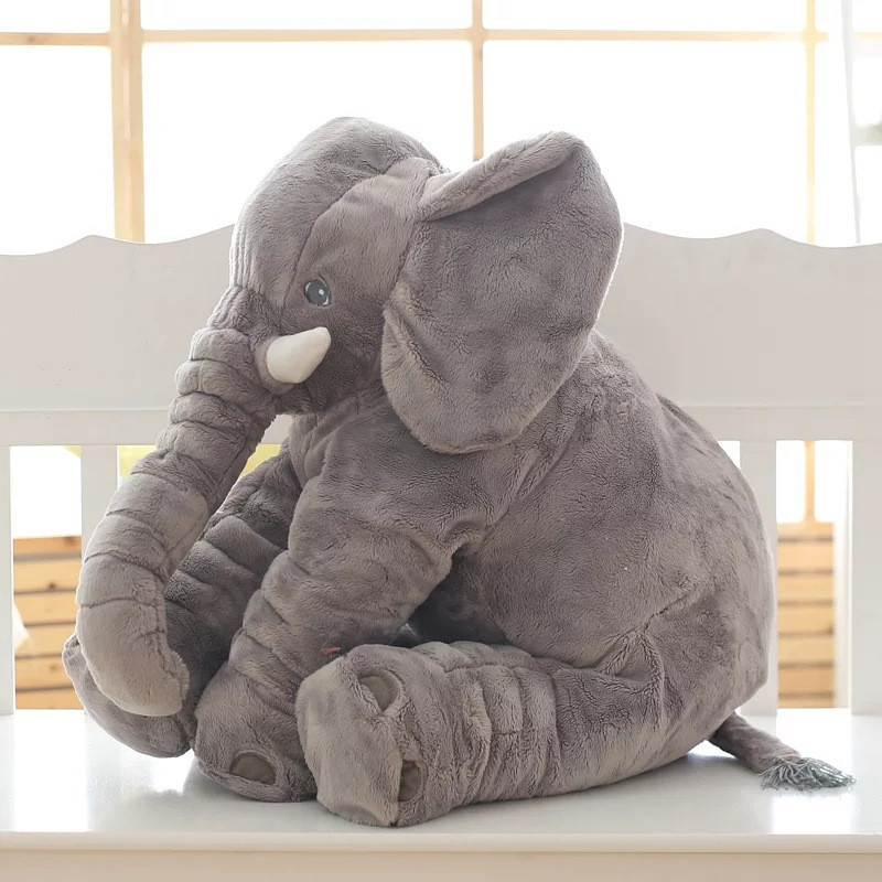 CAMMITEVER 2 Sizes Baby Pillow Elephant Feeding Cushion Children Room Bedding Decoration Bed Crib Car Seat Kids Plush Toys-in Cushion from Home & Garden