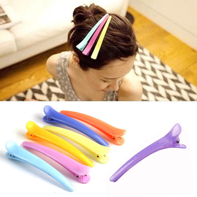 10Pcs Dedicated Hairpins Salon Section Grip Hair Clips Hairdressing Styling Tool Plastic Barrette Hairclip Braiding Hair Pins