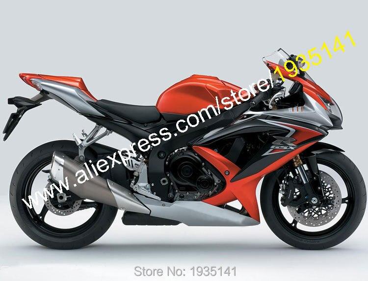Hot Sales,For Suzuki K8 Fairing GSX R600 GSX R750 08-10 GSXR600-750 2008-2010 Red Gray Aftermarket Body Kit (Injection molding)
