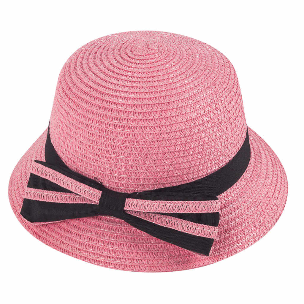 3-5 Years Old Children Straw Boater Hat Festival Summer Sun Beach Hat cachuchas de hombre de moda #P3