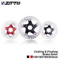ZTTO MTB bicicleta de enfriamiento rápido Rotor flotante de freno de disco de acero inoxidable 7075 AL bicicleta de carretera de montaña 140/ 160/180/203mm
