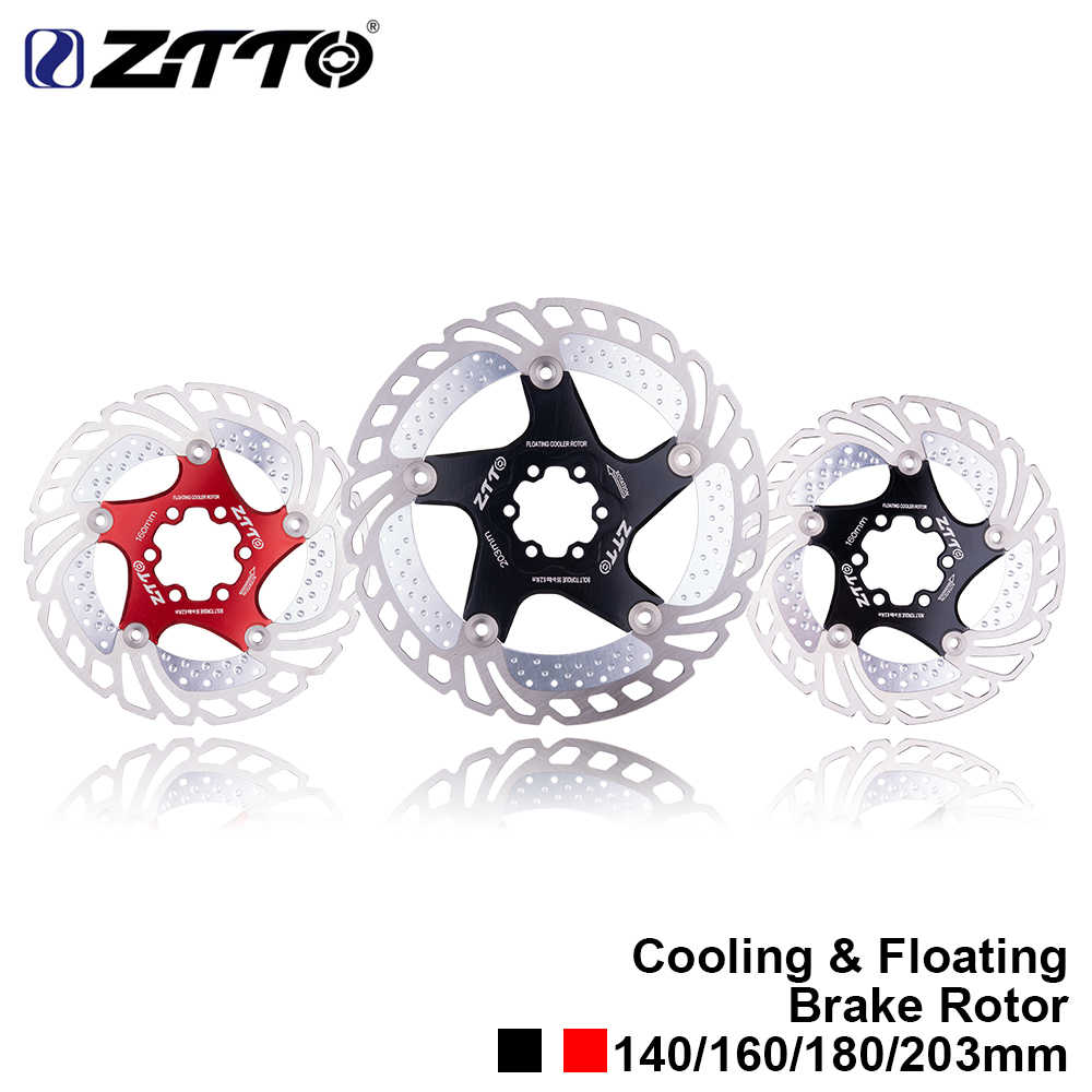 ZTTO vtt rapide refroidissement vélo frein à disque flottant Rotor 7075 AL acier inoxydable vélo de route de montagne 140/160/180/203mm