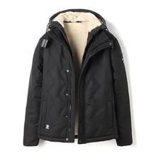 Envío de la gota 2018 encapuchado ocasional de los hombres chaquetas y abrigos de invierno grueso caliente parkas abrigos outwear NXP23