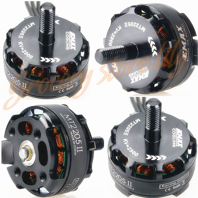 New 4pcs EMAX MT2205 II 2300KV Brushless Motor CW/CCW Racing Edition For RC Multicopter Quadcopter QAV250 4 sets lot emax mt2206 1500kv 1900kv brushless multicopter motor cw ccw for rc 250 quadcopter mini aircraft
