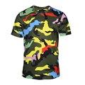 Mens t shirts fashion 2017 Zipper short sleeve Camouflage short-sleeved T-shirt