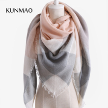 2017 Winter Brand Designer Triangle Scarf Women Shawl Cashmere Autumn Plaid Wool Scarves Blanket Wholesale Drop shipping