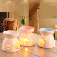 12 Styles Fashion Candle Aroma Furnace Ceramic Aroma Light Candle Fragrance Oil Burner Tray Household Perfume