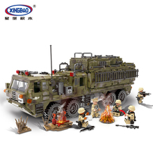 XINGBAO 06014 Military Series 1377Pcs The Scorpion Heavy Truck Set Building Blocks Compatible With LegoINGlys Military Bricks