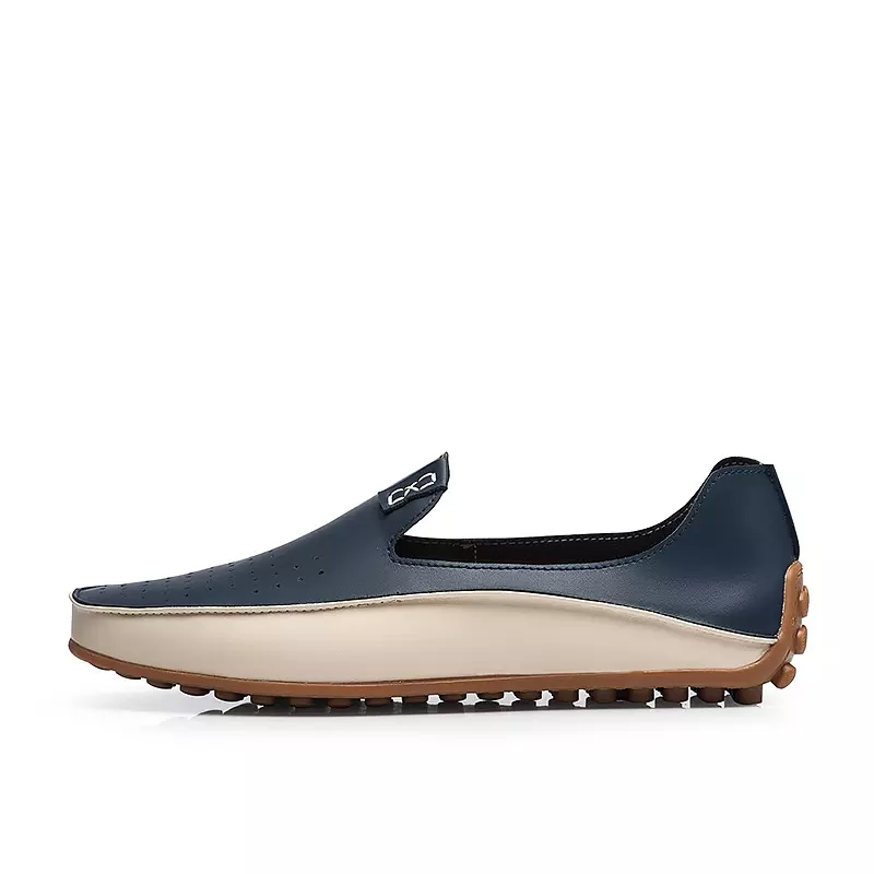 SHIFOPUTI Causal Shoes Men Loafers High Quality Leather Moccasins Men Driving Shoe Flats for Man Plus Size 39-46 Business Flat