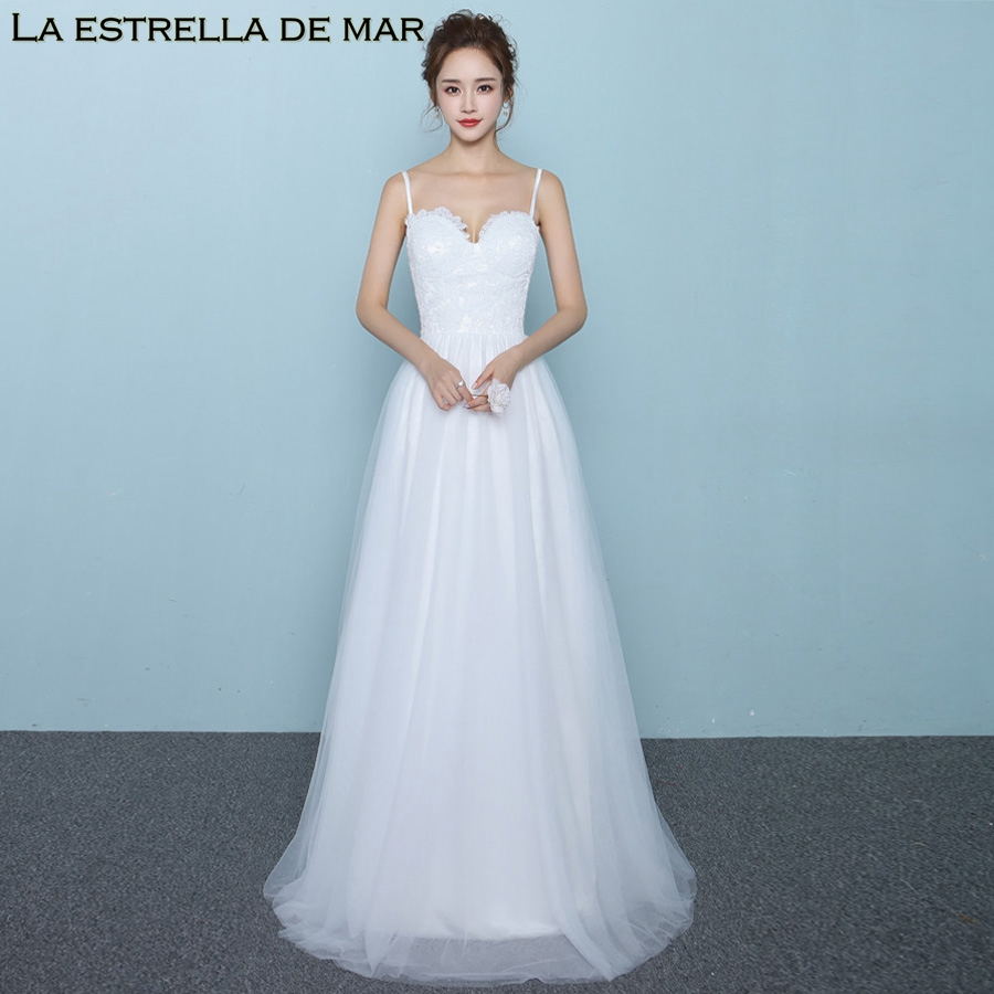 Vestido madrinha high quality custom made sexy V neck thin shoulder strap backless A Line ivory   bridesmaid     dresses   long wedding