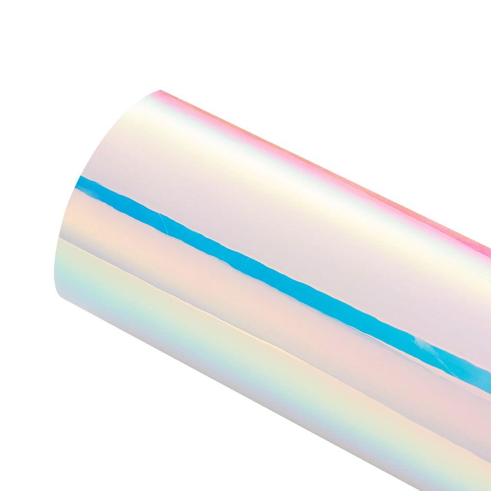 AuMoHall голографическая Радужная хромированная Автомобильная наклейка с лазерным напылением, пленка для обёртывания кузова, сделай сам, для стайлинга автомобиля - Название цвета: Белый
