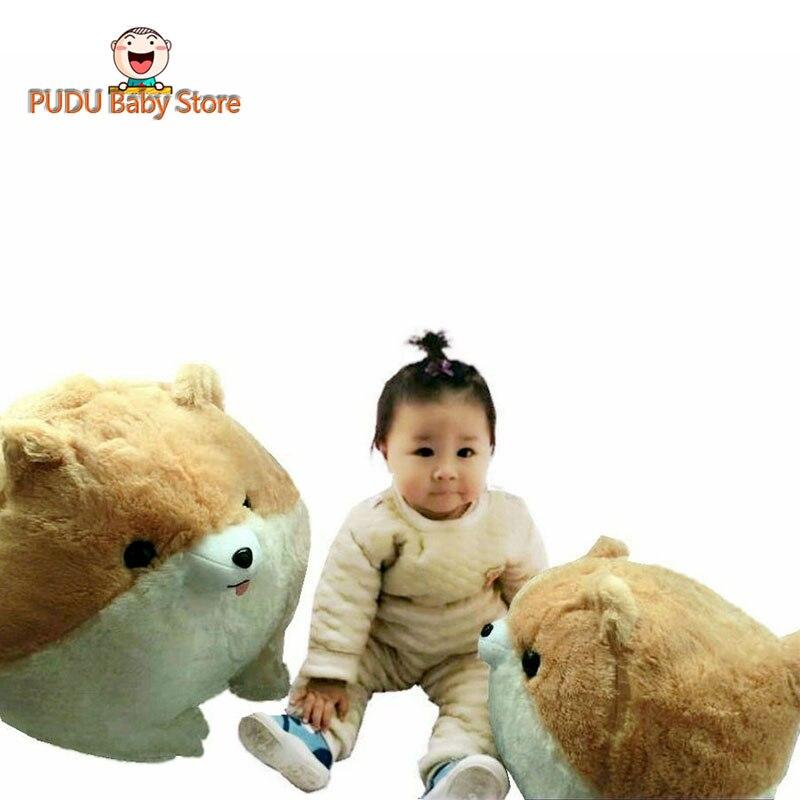 Hot Sale Cut Pomeranian Plush Toy Luminous Dog Plush Pillow Cushion Kids Toys Stuffed Ball Shape Animal Doll Birthday Gift D73Z