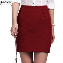 Female Skirt Formal Office Black Plus-Size Women Summer Ladies New-Fashion Short-Bottom