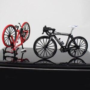 Image 2 - Bicicleta de carretera de Metal fundido a presión, escala 1:10, juguete de colección