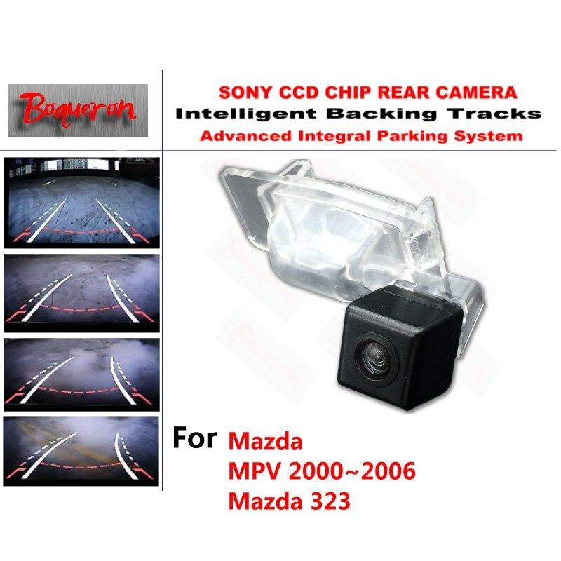 for Mazda MPV 2000~2005 Mazda 323 CCD Car Backup Parking Camera Intelligent Tracks Dynamic Guidance Rear View Camera for mazda 6 mazda6 atenza 2014 2015 ccd car backup parking camera intelligent tracks dynamic guidance rear view camera